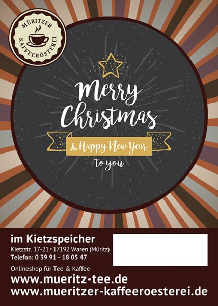 Kaffeegeschenk: Merry Christmas & Happy new year to you