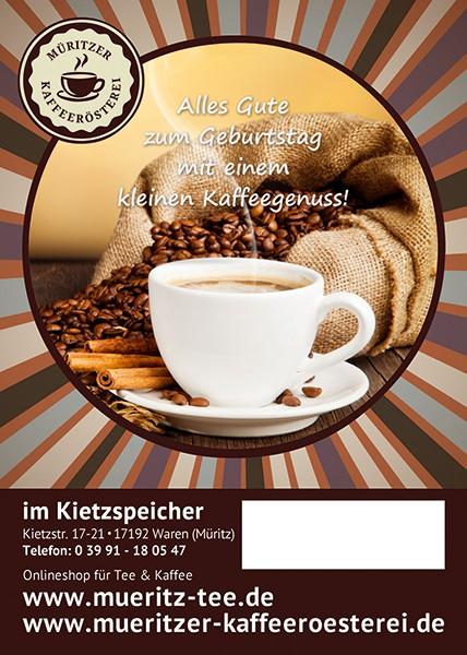 Kaffeegeschenk: Alles Gute zum Geburtstag ...